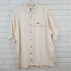 Ecko Unltd. Striped Short Sleeve Button Down Shirt
